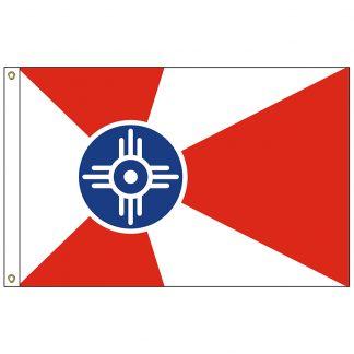 CF-2X3-WICHITA Wichita 2' x 3' Nylon Flag with Heading and Grommets-0