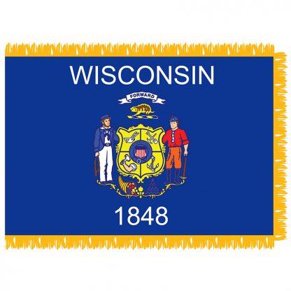 SFI-204-WISCONSIN Wisconsin 4' x 6' Indoor Flag-0