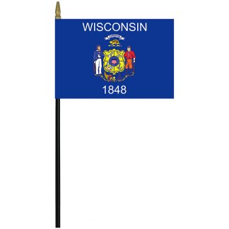 "MRF-46-WISCONSIN Wisconsin 4"" x 6"" Staff Mounted Rayon-0"