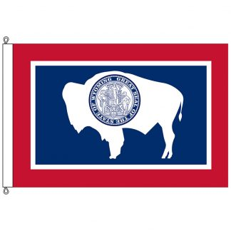 SF-1015-WYOMING Wyoming 10' x 15' Nylon Flag with Rope and Thimble-0