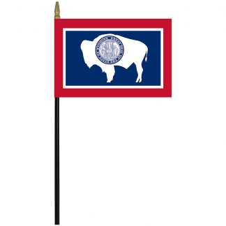 "MRF-46-WYOMING Wyoming 4"" x 6"" Staff Mounted Rayon-0"