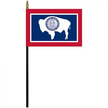 """MRF-46-WYOMING Wyoming 4"""" x 6"""" Staff Mounted Rayon-0"""