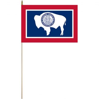 "EPC-1218-WYOMING Wyoming 12"" x 18"" Stick Flag-0"