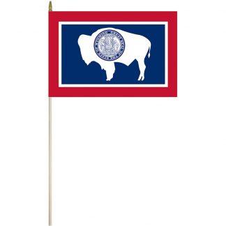 "EPC-1218-WYOMING Wyoming 12"" x 18"" Stick Flag-0"