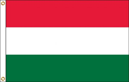 FW-110-HUNGARY Hungary 2' x 3' Outdoor Nylon Flag with Heading and Grommets-0