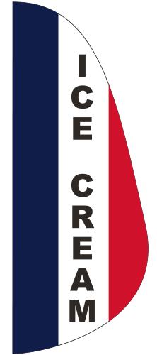 FEF-3X8-ICECREAM Ice Cream 3' x 8' Message Feather Flag-0