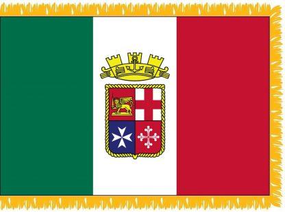 FWI-235-3X5ITALIANEN Italian Ensign 3' x 5' Indoor Flag with Pole Sleeve and Fringe-0