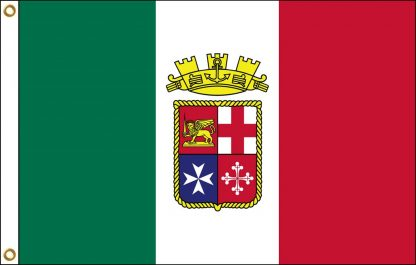 035114 Italian Ensign 6' x10' Outdoor Nylon Flag with Heading and Grommets-0