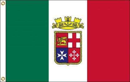 FW-135-ITALIANENSIIG Italian Ensign 2' x 3' Outdoor Nylon Flag with Heading and Grommets-0