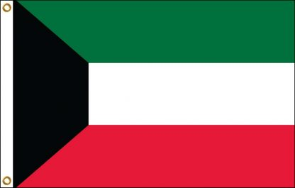 FW-130-3X5KUWAIT Kuwait 3' x 5' Outdoor Nylon Flag with Heading and Grommets-0