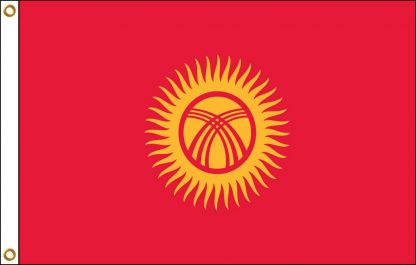 035124 Kyrgyzstan 6' x 10' Outdoor Nylon Flag with Heading and Grommets-0