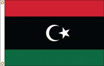 FW-110-5X8NEWLIBYA Libya (2011-Present) 5' x 8' Outdoor Nylon Flag with Heading and Grommets-0