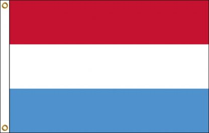 035133 Luxembourg 6' x 10' Outdoor Nylon Flag with Heading and Grommets-0