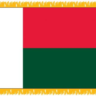 FWI-220-3X5MADAGASCA Madagascar 3' x 5' Indoor Flag with Pole Sleeve and Fringe-0