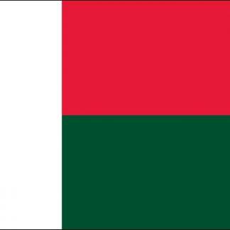 FW-120-MADAGASCAR Madagascar 2' x 3' Outdoor Nylon Flag with Heading and Grommets-0