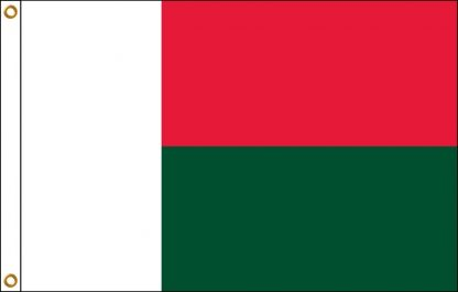 FW-120-5X8MADAGASCAR Madagascar 5' x 8' Outdoor Nylon Flag with Heading and Grommets-0