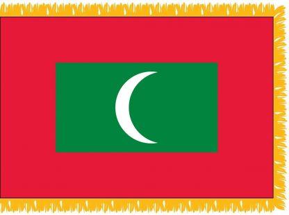 FWI-230-4X6MALDIVES Maldives 4' x 6' Indoor Flag with Pole Sleeve and Fringe-0