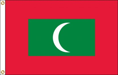 FW-130-MALDIVES Maldives 2' x 3' Outdoor Nylon Flag with Heading and Grommets-0
