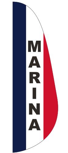 FEF-3X10-MARINA Marina 3' x 10' Message Feather Flag-0