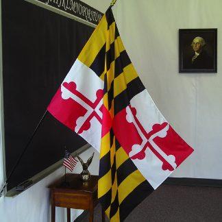 "EPC-2436-MARYLAND Maryland 24"" x 36"" Classroom Mounted Flag-0"