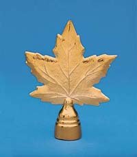 "GBO-110 8"" Maple Leaf Metal Flagpole Ornament-0"