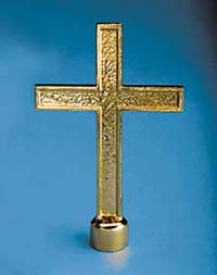 "GBO-135 9 1/4"" Church Cross Metal Flagpole Ornament-0"