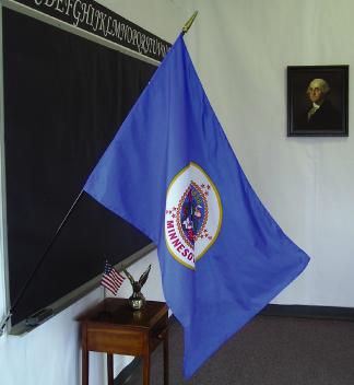 "EPC-2436-MINNESOTA Minnesota 24"" x 36"" Classroom Mounted Flag-0"