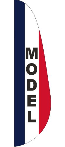 FEF-3X12-MODEL Model 3' x 12' Message Feather Flag-0
