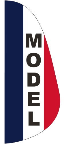 FEF-3X8-MODEL Model 3' x 8' Message Feather Flag-0