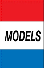 WC-8H-MODELS Models 2.5' x 5' Windchaser Horizontal Message Flag-0