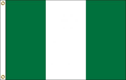 FW-115-3X5NIGERIA Nigeria 3' x 5' Outdoor Nylon Flag with Heading and Grommets-0