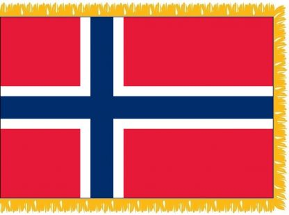 FWI-225-4X6NORWAY Norway 4' x 6' Indoor Flag with Pole Sleeve and Fringe-0