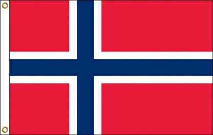 FW-125-5X8NORWAY Norway 5' x 8' Outdoor Nylon Flag with Heading and Grommets-0