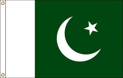 FW-130-5X8PAKISTAN Pakistan 5' x 8' Outdoor Nylon Flag with Heading and Grommets-0