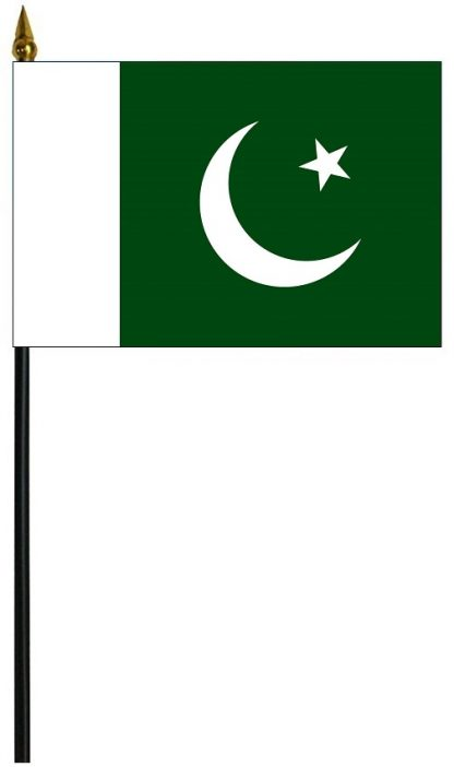 """MRF-46-PAKISTAN Pakistan 4"""" x 6"""" Staff Mounted Rayon-0"""