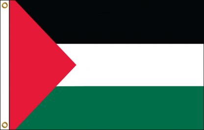 FW-130-5X8PALESTINE Palestine 5' x 8' Outdoor Nylon Flag with Heading and Grommets-0