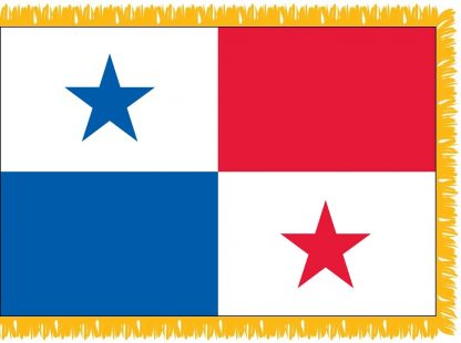 FWI-230-4X6PANAMA Panama 4' x 6' Indoor Flag with Pole Sleeve and Fringe-0