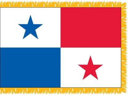 FWI-230-3X5PANAMA Panama 3' x 5' Indoor Flag with Pole Sleeve and Fringe-0