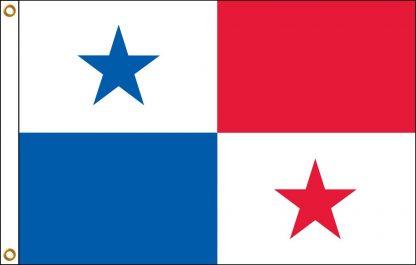 FW-130-PANAMA Panama 2' x 3' Outdoor Nylon Flag with Heading and Grommets-0