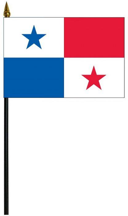 """MRF-46-PANAMA Panama 4"""" x 6"""" Staff Mounted Rayon-0"""