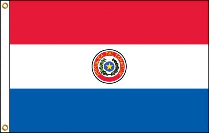 FW-140-5X8PARAGUAY Paraguay 5' x 8' Outdoor Nylon Flag with Heading and Grommets-0