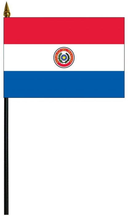 """MRF-46-PARAGUAY Paraguay 4"""" x 6"""" Staff Mounted Rayon-0"""