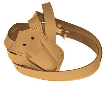 PCB-105 Single Harness Leather Carrying Belts, Tan-0