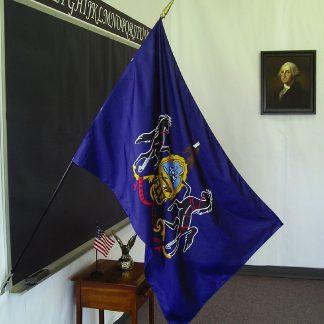"""EPC-2436-PENNSYLVANIA Pennsylvania 24"""" x 36"""" Classroom Mounted Flag-0"""