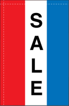 WC-8V-SALE Sale 2.5' x 5' Sale Windchaser Vertical Message Flag-0