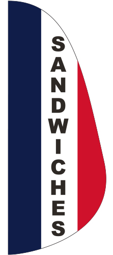 FEF-3X8-SW Sandwiches 3' x 8' Message Feather Flag-0