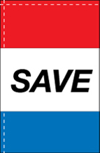 WC-8H-SAVE Save 2.5' x 5' Windchaser Horizontal Message Flag-0