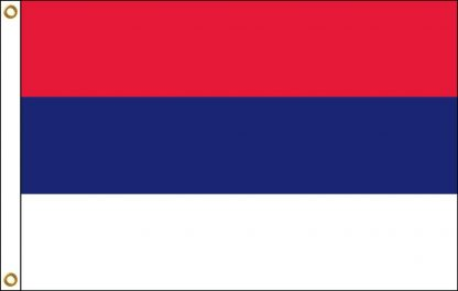 FW-110-5X8SERBIA Serbia 5' x 8' Outdoor Nylon Flag with Heading and Grommets-0