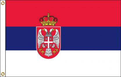 FW-140-SERBIA Serbia with Seal 2' x 3' Outdoor Nylon Flag with Heading and Grommets-0