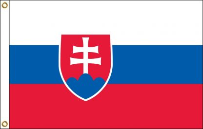 FW-140-5X8SLOVAKIA Slovakia 5' x 8' Outdoor Nylon Flag with Heading and Grommets-0